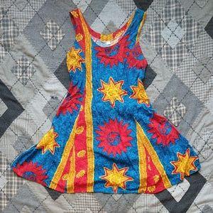 Vintage Fit & Flare Tie-Back Yin Yang Dress
